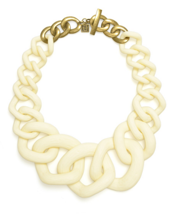 Chunky Links Statement Necklace Cream