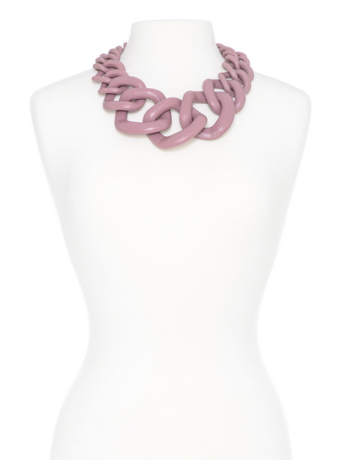 Chunky Links Statement Necklace Rose