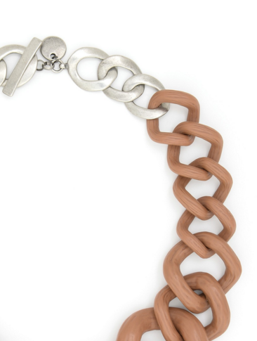 Chunky Links Statement Necklace Tan