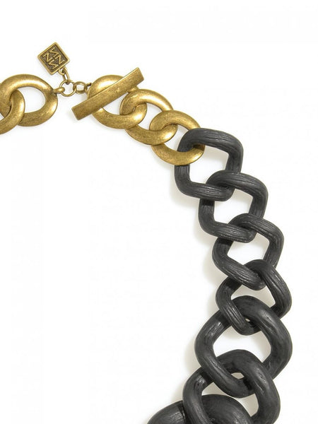 Chunky Links Statement Necklace Black