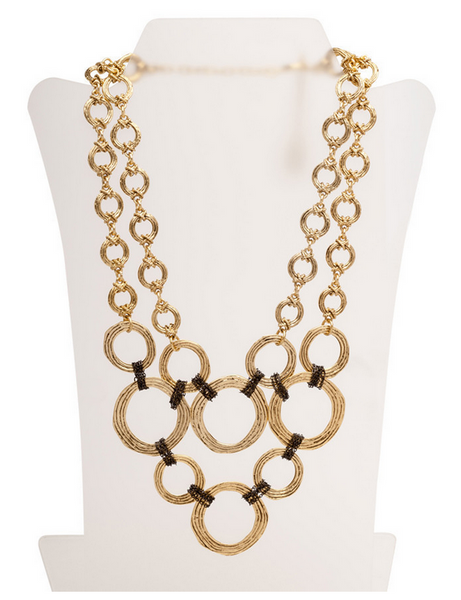 Circles and Chains Statement Necklace
