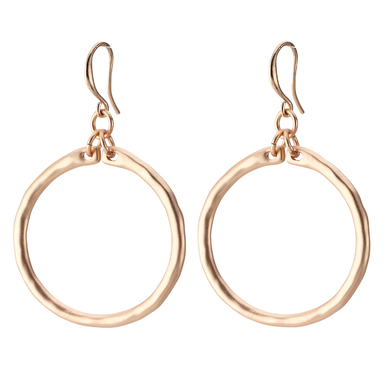 Classic Hoop Drop Earrings gold