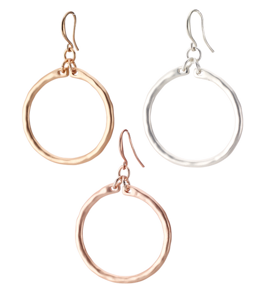 Classic Hoop Drop Earrings