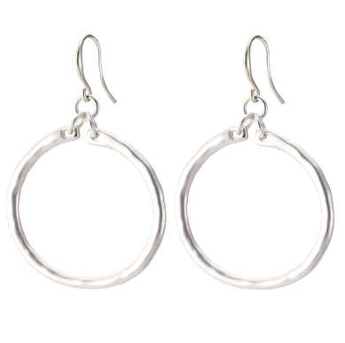 Classic Hoop Drop Earrings silver