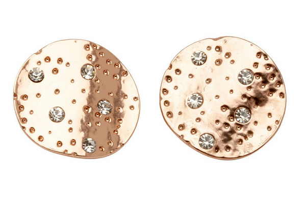 Coin Earrings in Rose Gold