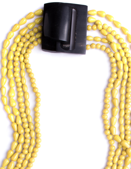 Color Wheel Necklace Yellow