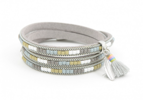 Colors of the Wind Wrap Bracelet gray