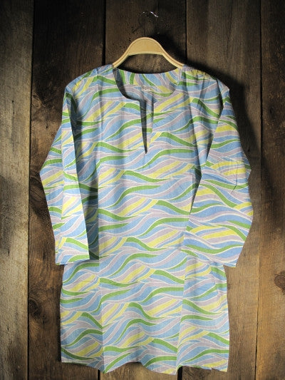 Cotton Print Wavy Green