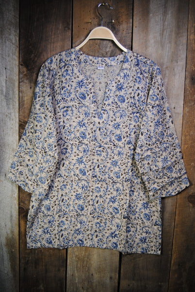 Cotton Shiva Tunic Blue Horrockses