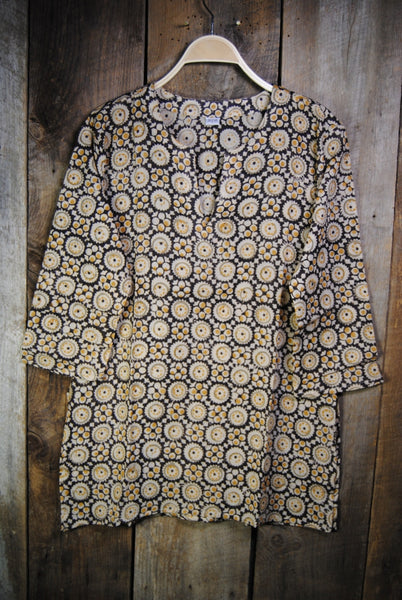 Cotton Shiva Tunic Yellow Pattern