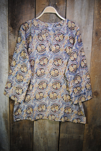 Cotton Shiva Tunic Vintage in Blue