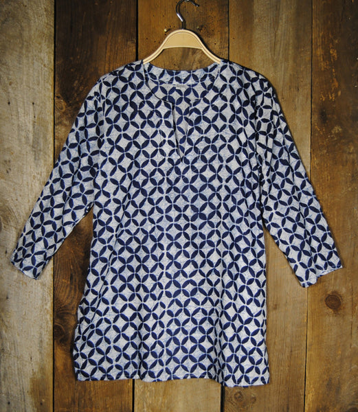 Cotton Tunic Top Navy Riviera