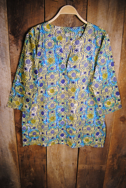 Cotton Tunic Top Modern Indian Print