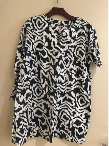 Cotton Tunic Top Handmade Ikat Print