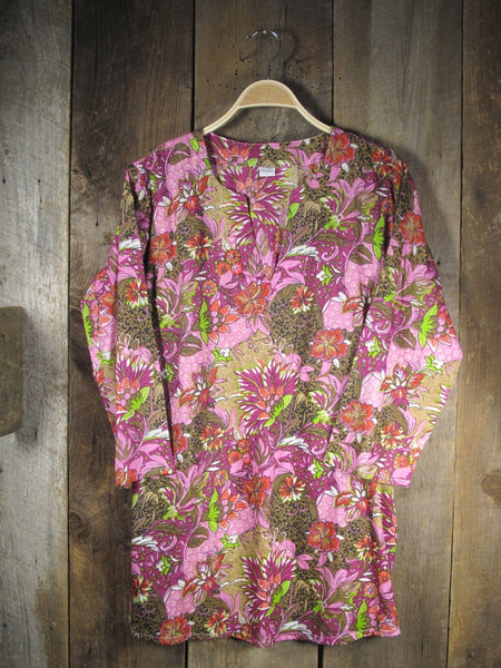 Cotton Tunic Top Lush Floral
