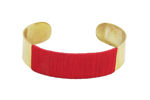 Crimson Threaded Cuff