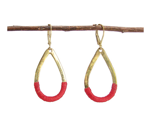 Crimson Threaded Earrings