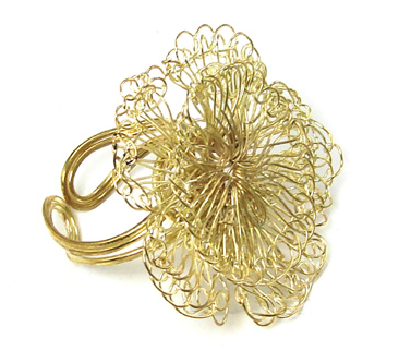 Cammelia Crocheted Wire Ring