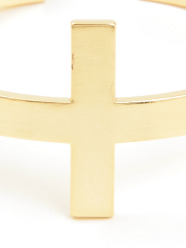 Cross Metal Cuff Bracelet