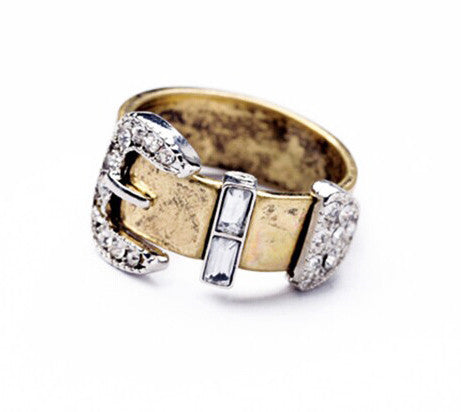 Crystal Buckle Ring