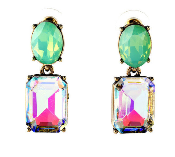 Prism Crystal Drop Earrings