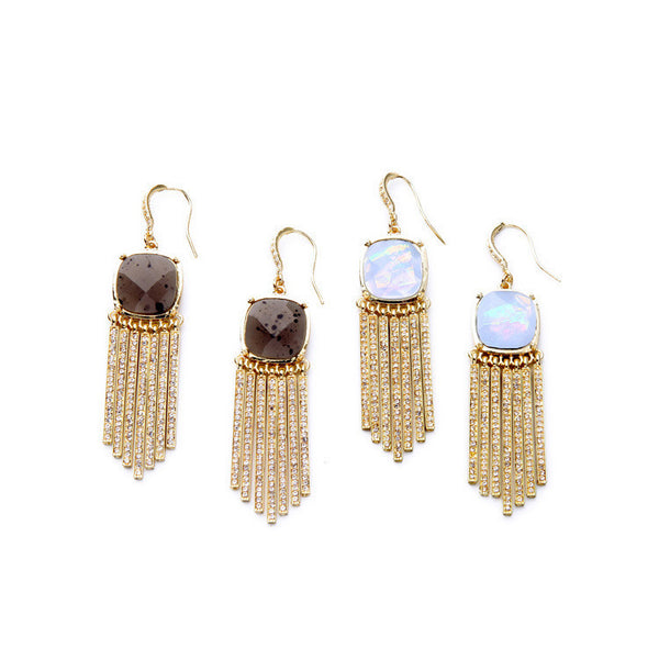 Crystal Fringe Statement Earrings