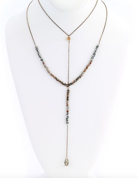 Crystal Drop Y-Necklace