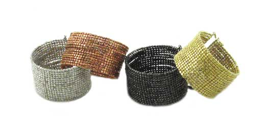 Cubist Beaded Cuff color