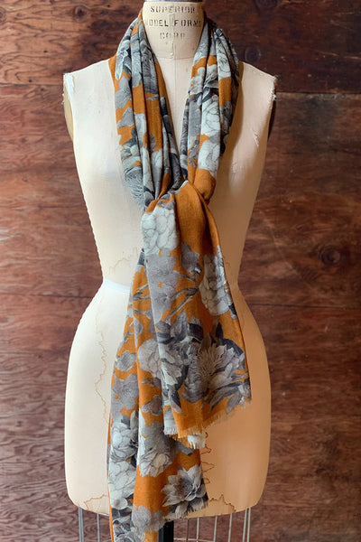Curry Flower Wool Scarf