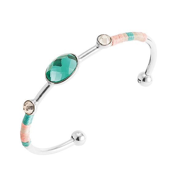 Hipanema Dune Silver Turquoise Bangle