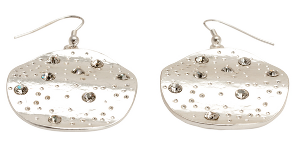 Dangle Disc Earrings silver