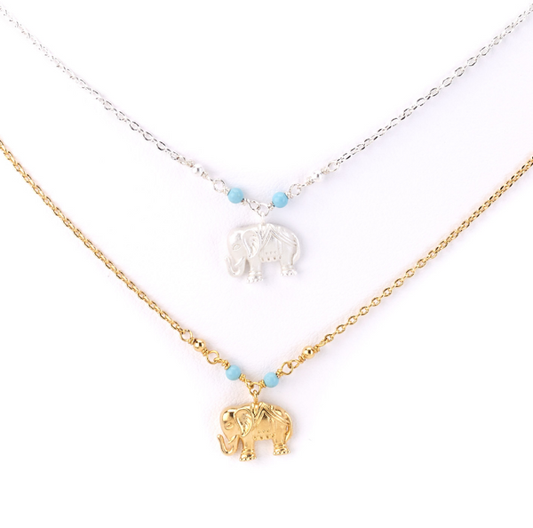 Delicate Elephant Charm Necklace