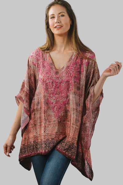 Demira Embroidered Top in Rose