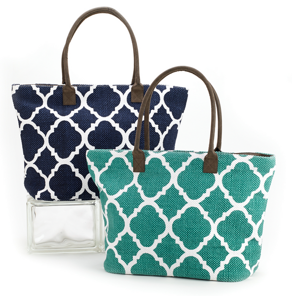 Dhurrie Tote Beach Bag Turquoise