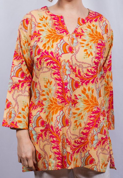 Dolma Cotton Tunic Summer Sunrise