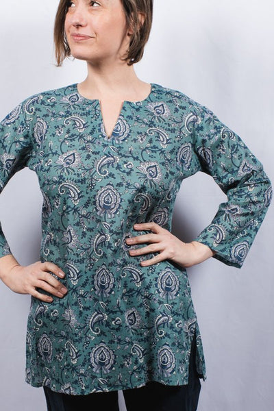 Dolma Cotton Tunic Top Alby Jade
