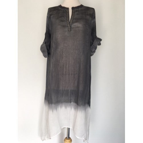 Dolma Ombre Dye Long Cotton Dress