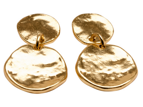 Double Medallion Dangle Earrings