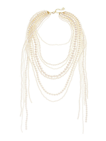 Dripping In Pearls Necklace