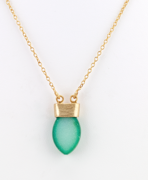 Druzy Bullet Necklace green