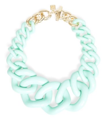Elephant Link Necklace Mint