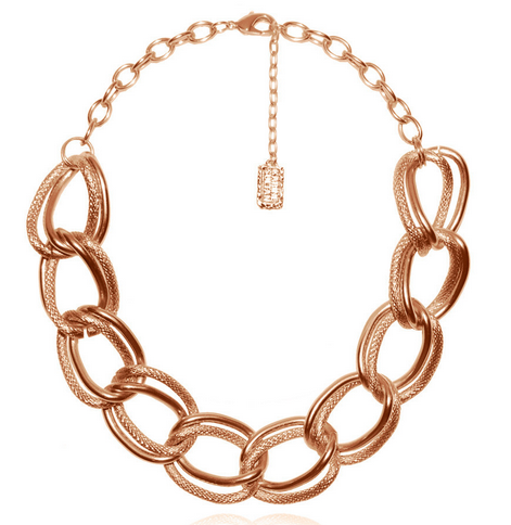 Emma Collar Necklace in Rose Gold
