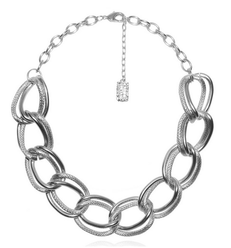 Emma Collar Necklace in Silver