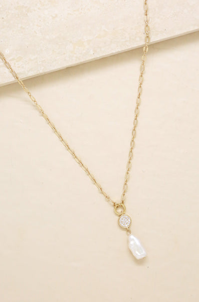 Ettika Dainty Vibes Freshwater Pearl Necklace