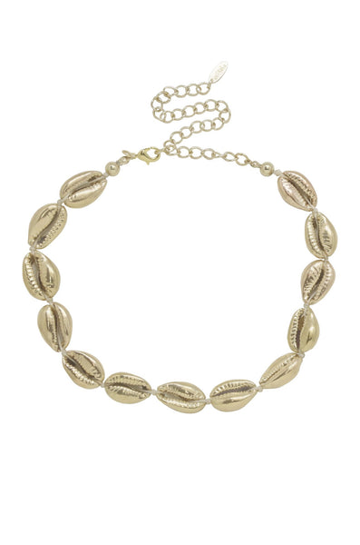 Ettika 18kt Gold Plated Cowrie Shell Necklace