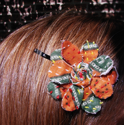 Fabric Flower Hair Pin