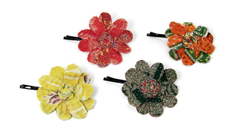 Hair - Fabric Flower Hair Pin - Girl Intuitive - WorldFinds -
