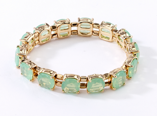 Faceted Stretch Bracelets mint