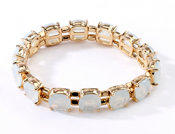 Faceted Stretch Bracelets opal
