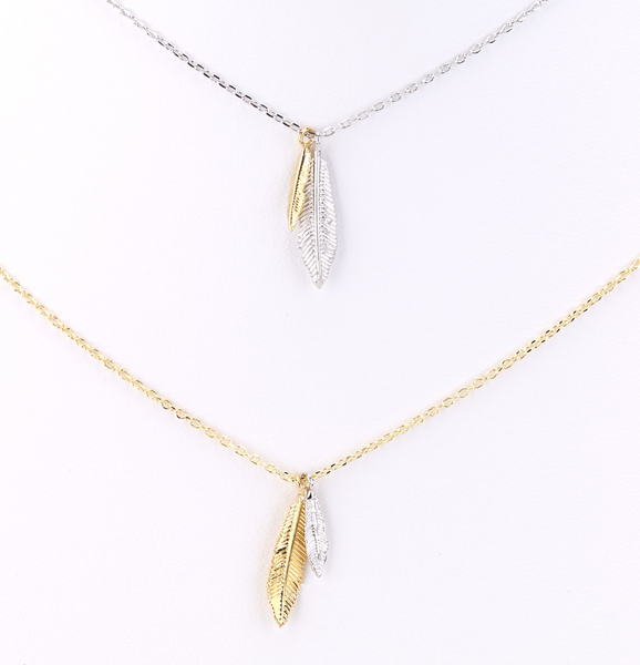 Feather Charms Delicate Necklace
